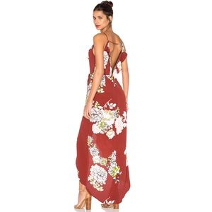 ASTR the Label Lucia Dress Rust Multi Floral Maxi